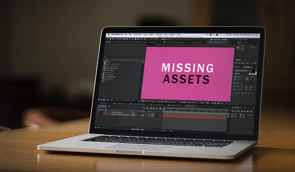Missing Assets After Effects