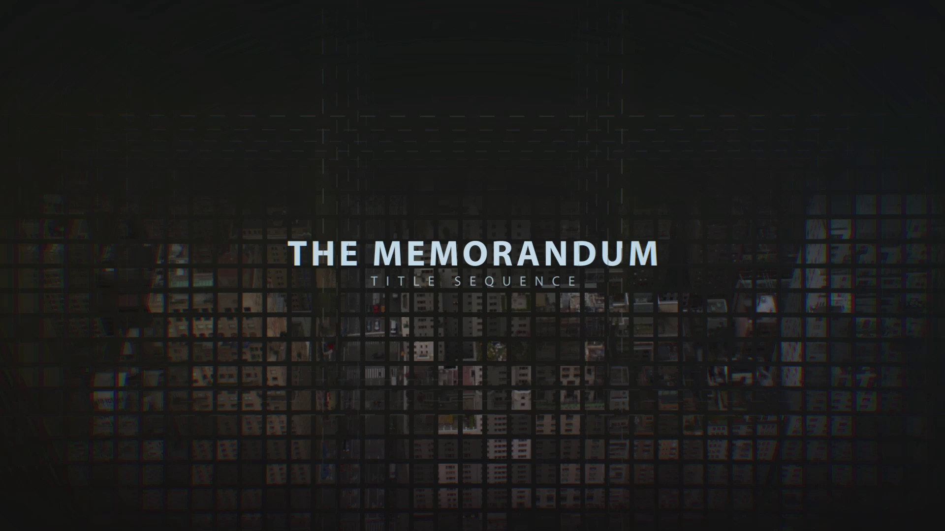 Memorandum: Title Sequence - After Effects Template
