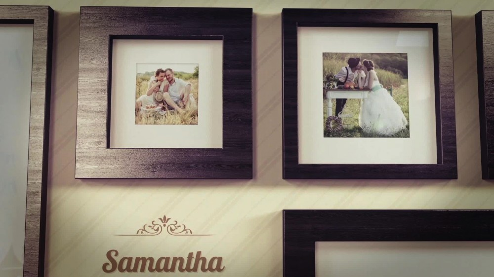 the gallery picture frame slideshow after effects template