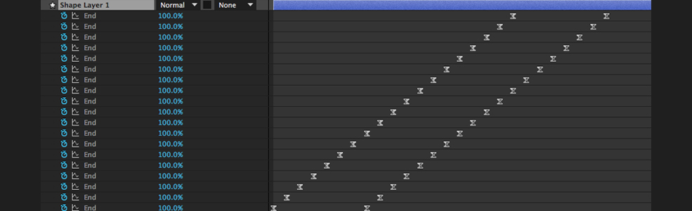 How to Create Hand-Written Wiggly Text in After Effects: Trim Paths Keyframe Stagger Menu