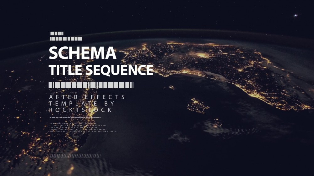 Schema: Digital Title Sequence - After Effects Template