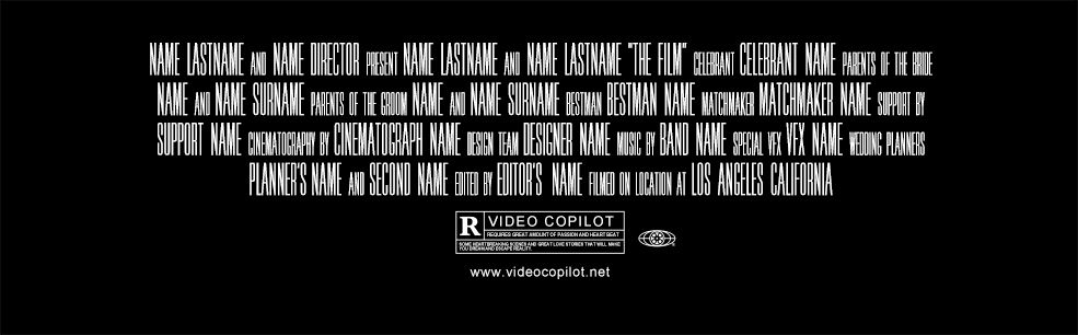 Everything you need to make an epic movie trailer for free for Movie poster credits template free