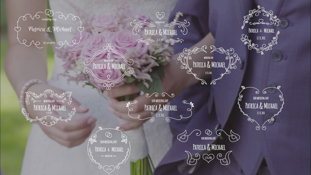 Unity: Wedding Badges Pack - After Effects Template