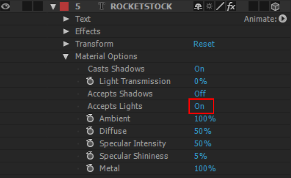 Tips for 3D Animation in After Effects - Accepts Lights