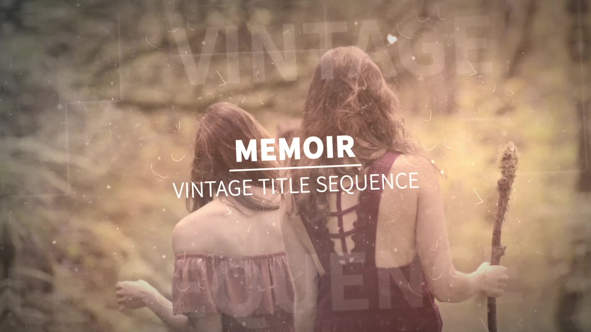 memoir  vintage title sequence