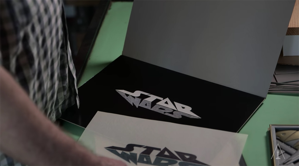 The Art Behind Classic Movie Title Design - Alternate Star Wars Title