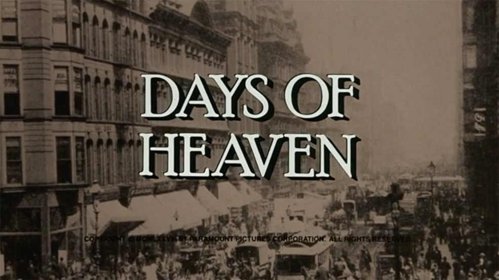 The Art Behind Classic Movie Title Design - Days of Heaven Title