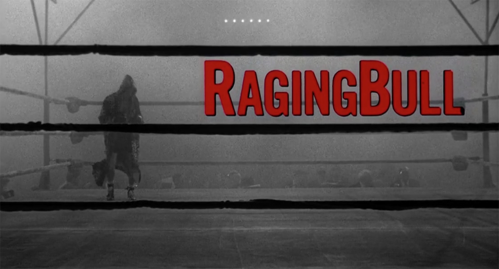 The Art Behind Classic Movie Title Design - Raging Bull Title