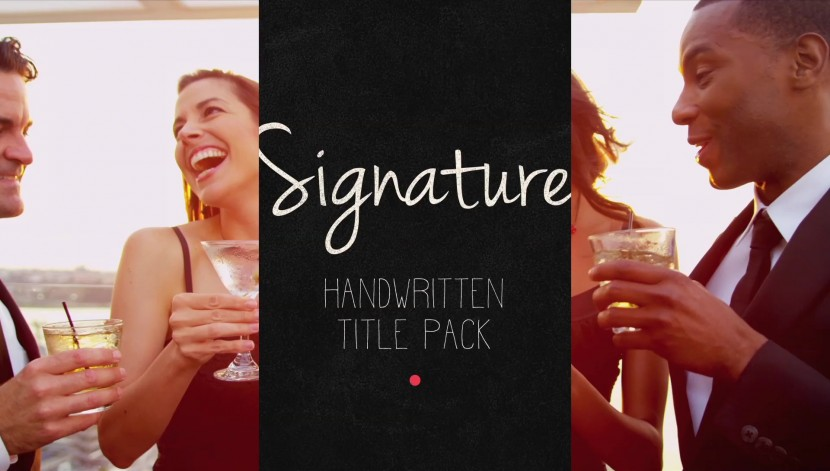 signtaure-after-effects-title-pack00005 | After Effects Template | Handwritten Title Pack