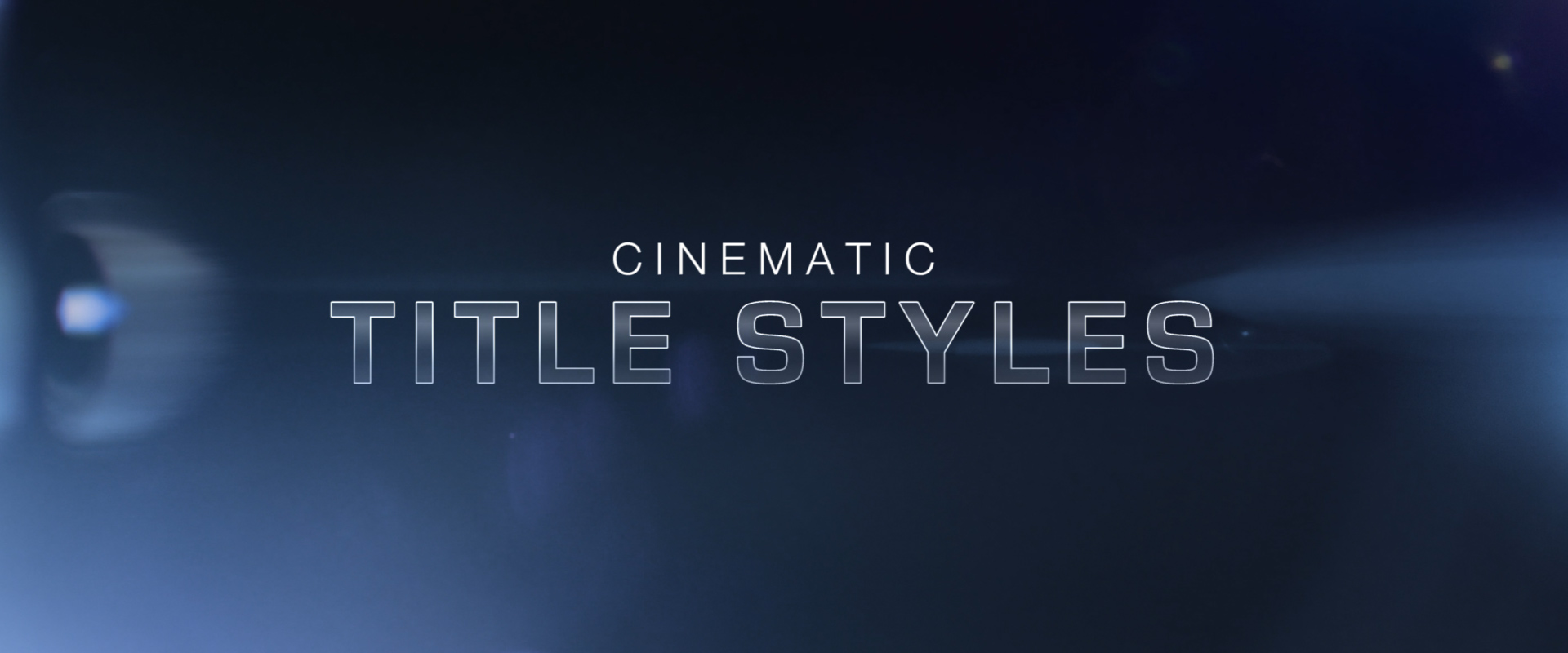 Free Cinematic Title Style Library for Premiere Pro - Cinematic Titles