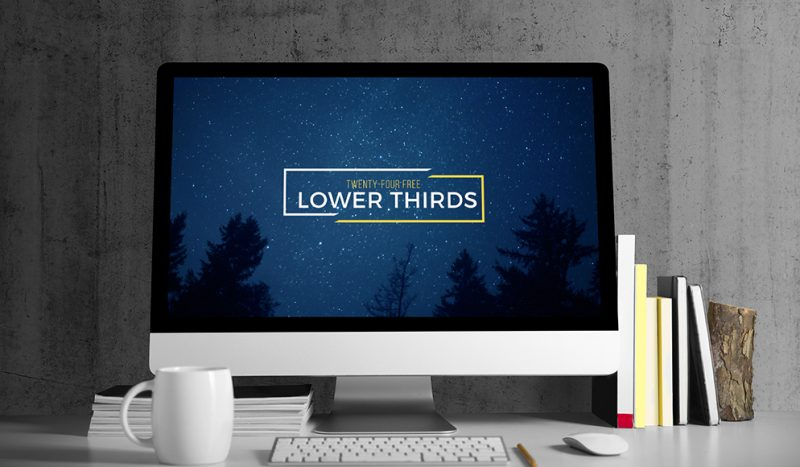 Free 4K Lower Thirds for After Effects