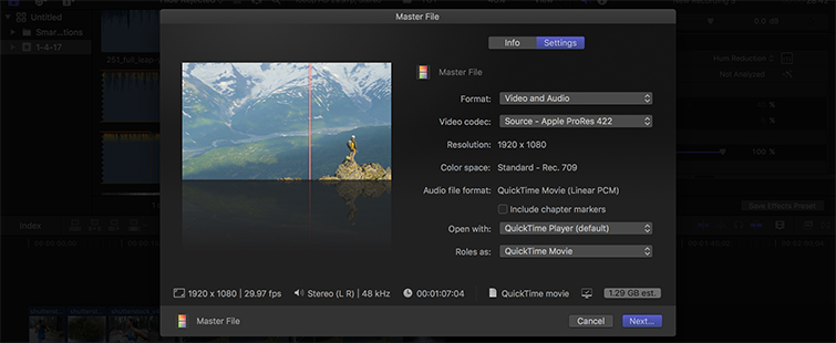 How to Export Video in Final Cut Pro - Set the format