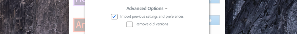Preserve Previous Versions of After Effects When Updating the Creative Cloud — Deselect