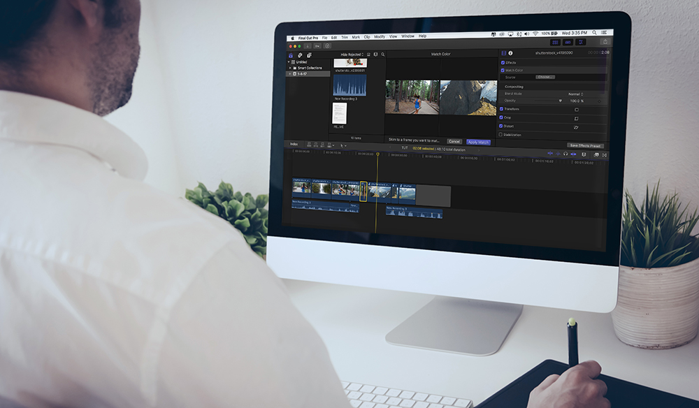 how to make video spin in final cut pro