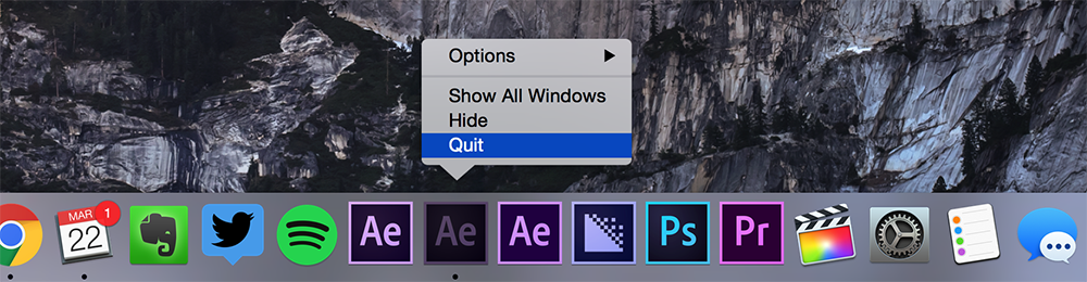 Preserve Previous Versions of After Effects When Updating the Creative Cloud — Close After Effects
