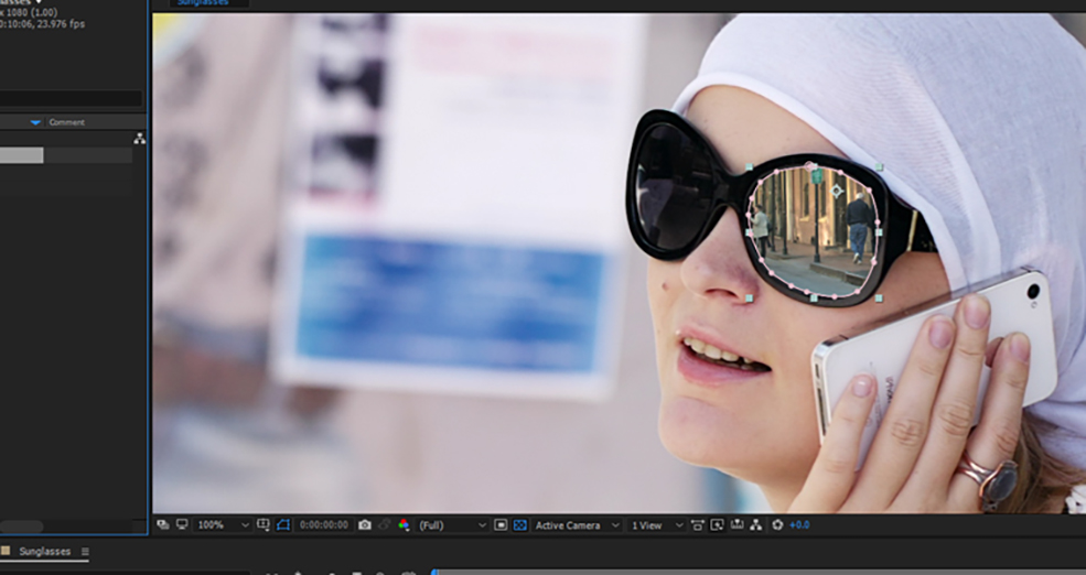 How To Change The Reflections in Sunglasses Using After Effects — Step 2.5