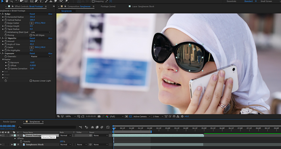 How To Change The Reflections in Sunglasses Using After Effects — Step 3.5
