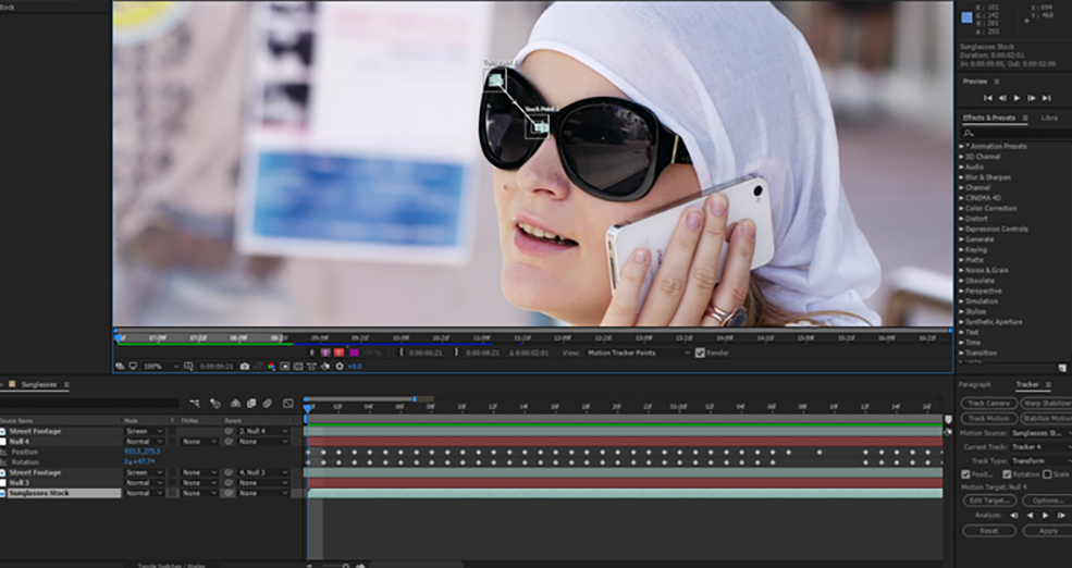How To Change The Reflections in Sunglasses Using After Effects — Step 4