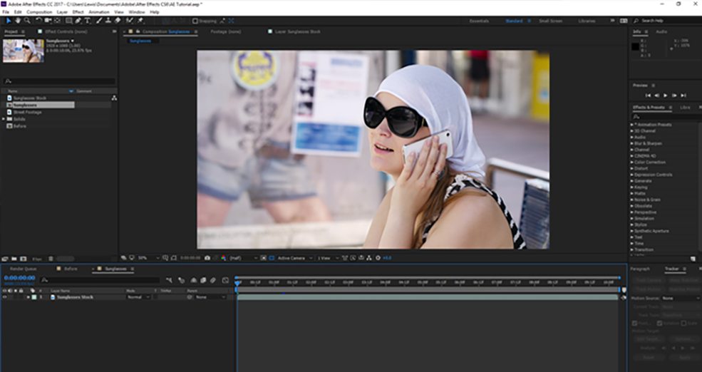How To Change The Reflections in Sunglasses Using After Effects — Step One