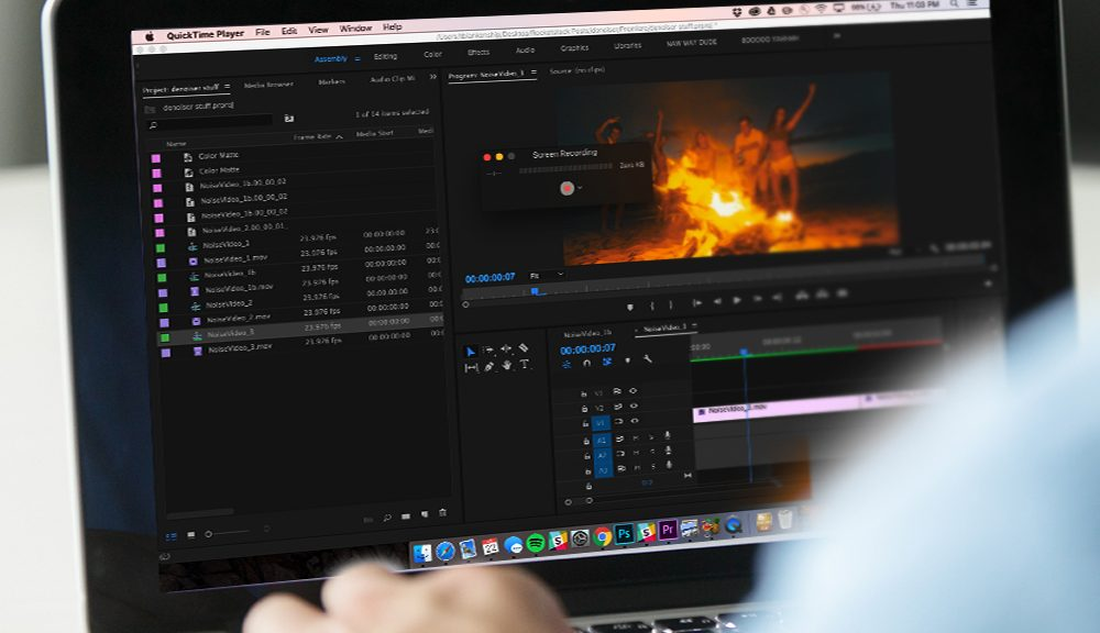 how to add audio to quicktime screen recording