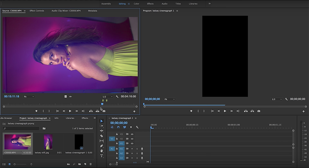 How to Shoot and Edit Cinemagraphs — Premiere Pro