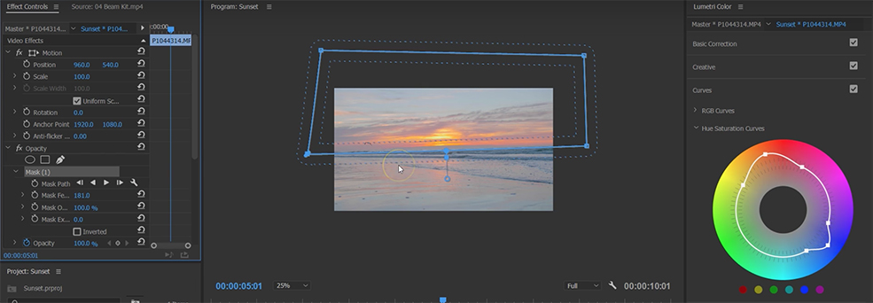 How to Color Grade Your Sunset Shots — Curves Tab