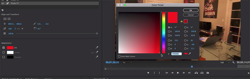 How to Create Pop Tags for Social Media in Premiere Pro — Change Color