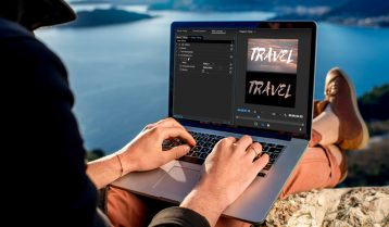 Using a Track Matte Key for See-Through Graphics in Premiere Pro