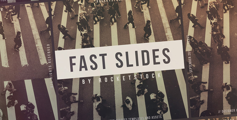 Fast Slides: Free After Effects Slideshow Template — Freebie