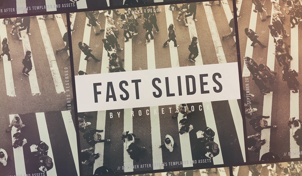 Fast slides free after effects slideshow template maxwellsz