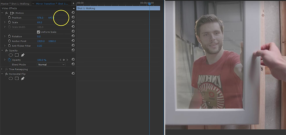 Video Editing Tricks: Moving the Camera Through a Mirror — Key Out Green
