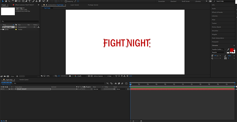 The Beginner's Guide to Using Alpha Mattes in After Effects — New Text Layer