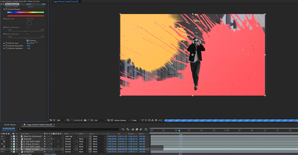 Create a Custom Ink Splat Title Sequence in After Effects