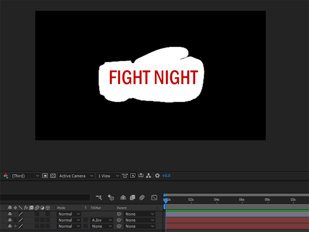 The Beginner's Guide to Using Alpha Mattes in After Effects — Alpha Inverted Matte