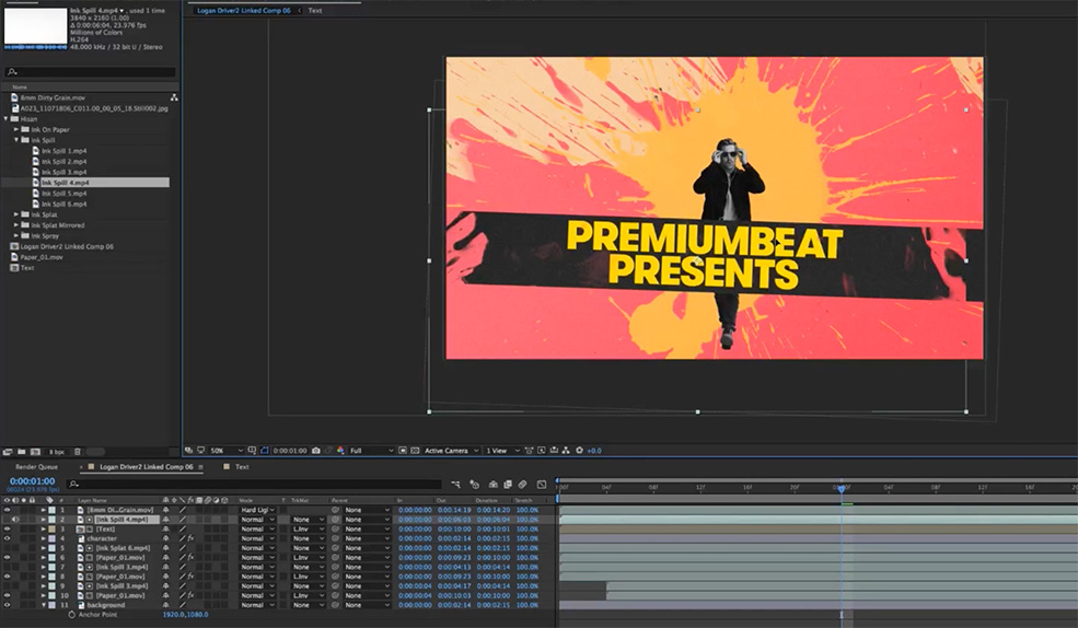 Create a Custom Ink Splat Title Sequence in After Effects — Finish Effect