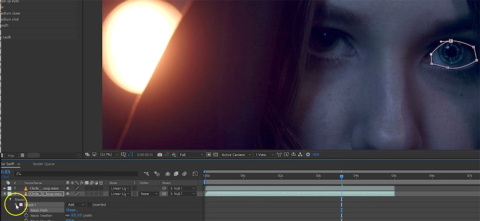 How to Create Mechanized Eyes in Adobe After Effects — Whip Tool
