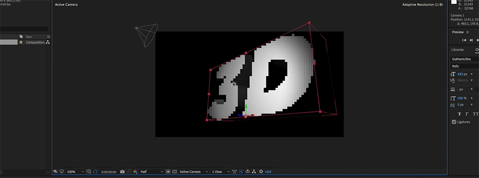 How to Make 3D Text in After Effects Without Plugins — Playing with the Look