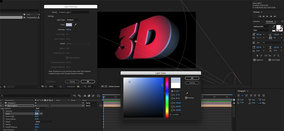 How to Make 3D Text in After Effects Without Plugins — Experiment
