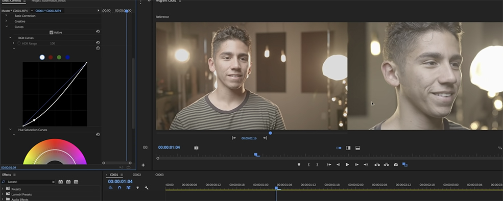 How to Easily Match Any Two Cameras in Premiere Pro — Base Shot