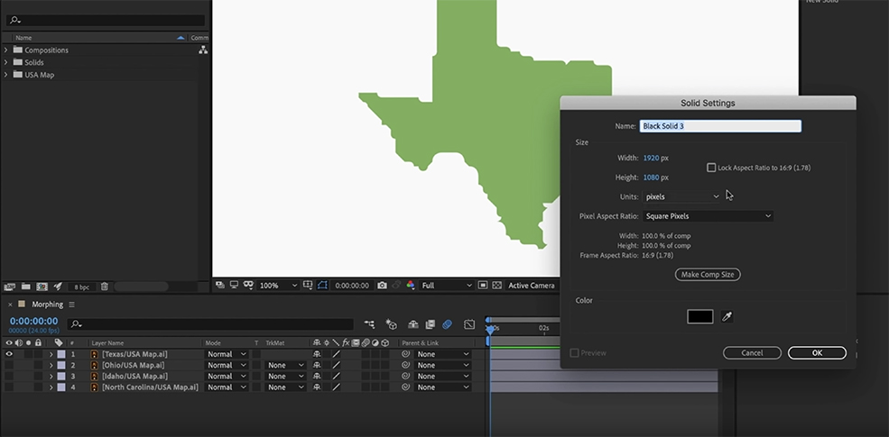 Create Dynamic Transitions by Morphing Shapes in After Effects