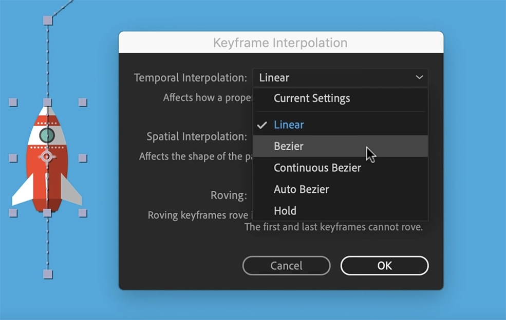 Create Smooth Graphics By Fine-Tuning Your Keyframes in AE — Changing Interpolation