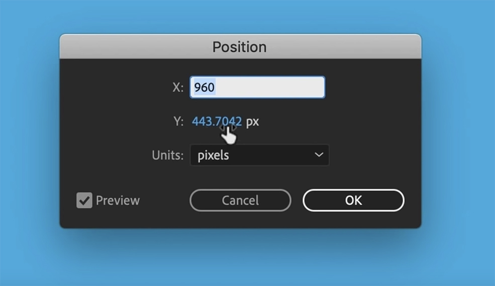 Create Smooth Graphics By Fine-Tuning Your Keyframes in AE — Adjusting Values