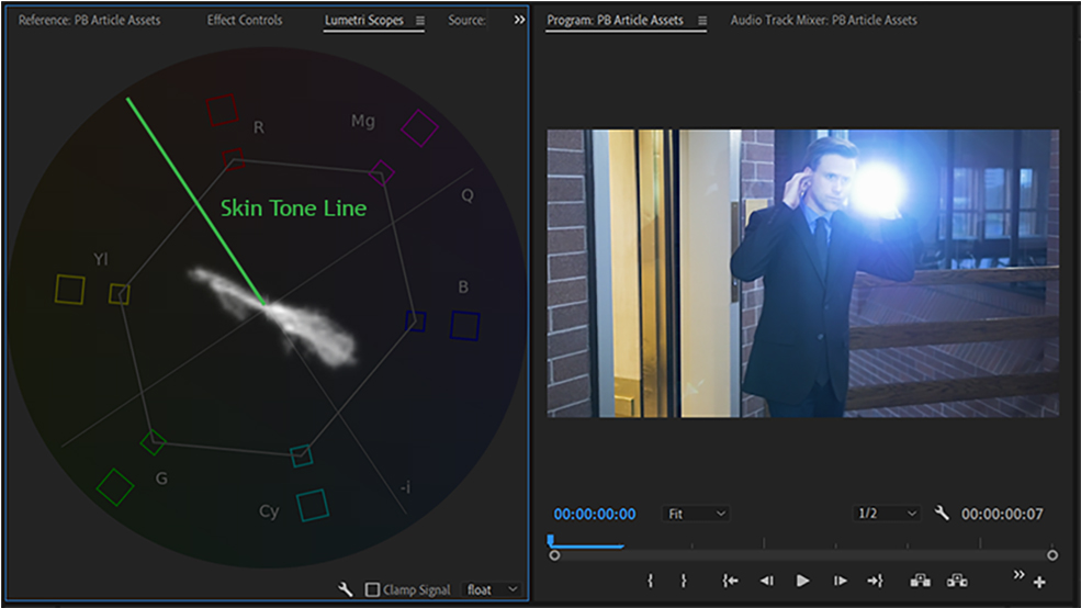 Post-Production Tip: What Your Scopes Are Trying to Tell You — Skin Tone Line