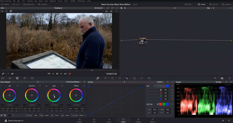 DaVinci Resolve Color Grading and Color Correction Walkthrough — Unbalanced Image