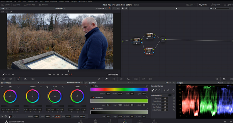 DaVinci Resolve Color Grading and Color Correction Walkthrough — Decreasing Midtones