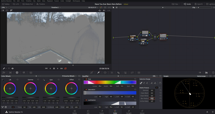 DaVinci Resolve Color Grading and Color Correction Walkthrough — Sky Adjustments