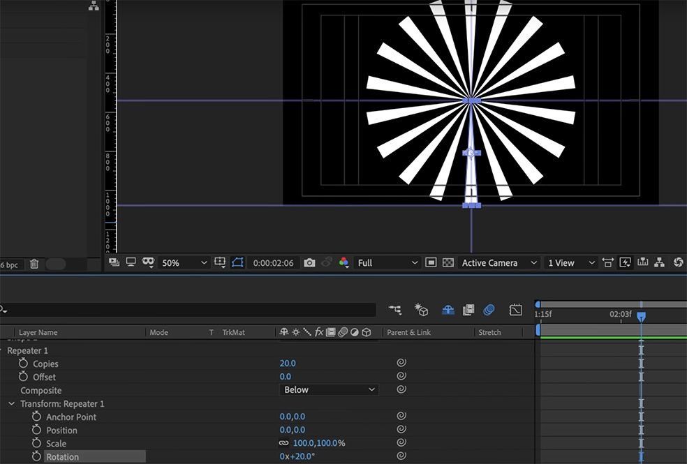 How to Create Anime-Style Speed Lines In After Effects — Add a Repeater