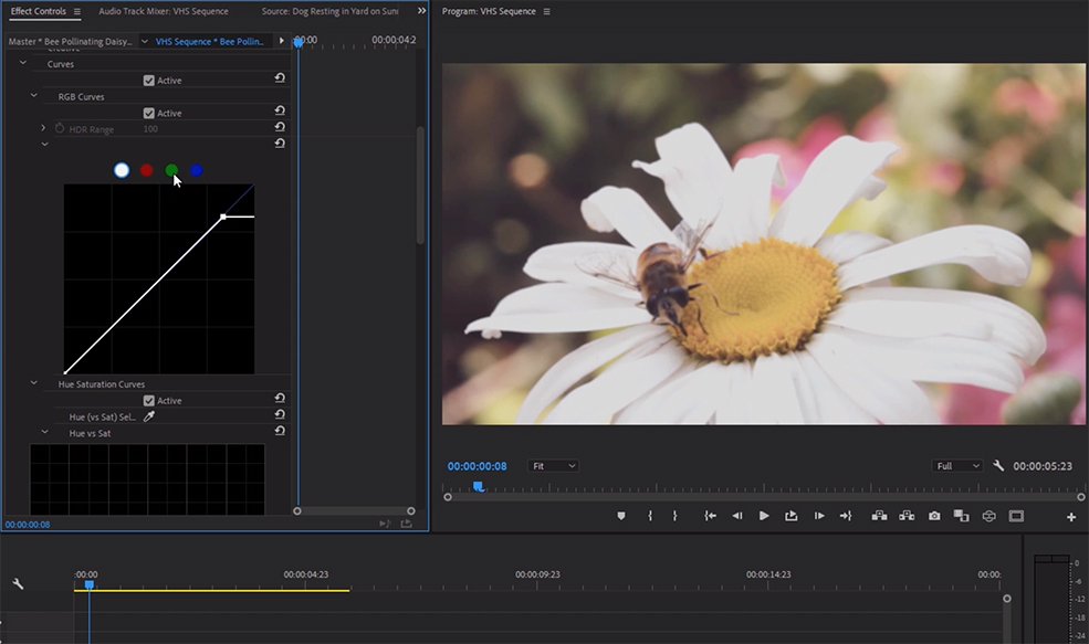 How to Create the Classic VHS Look in Adobe Premiere — Adjust Tint