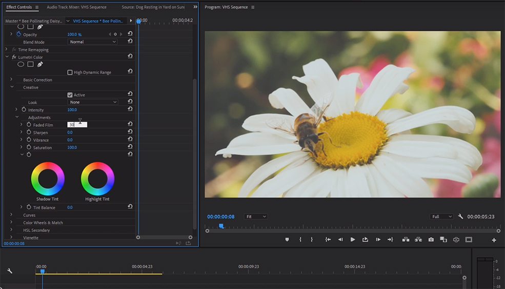 How to Create the Classic VHS Look in Adobe Premiere — Lumetri Color