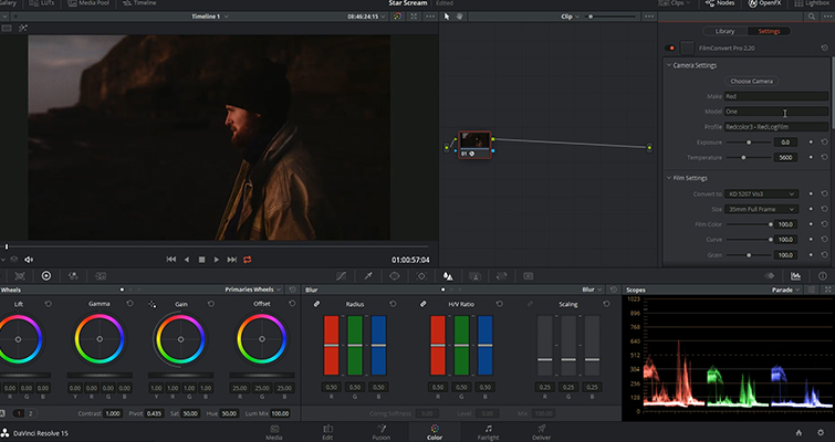 Video Tutorial: Using FilmConvert in DaVinci Resolve — RED ONE MX Camera Profile